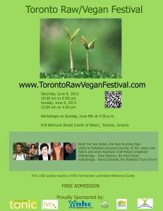 Toronto Raw Vegan Festival Poster 2013