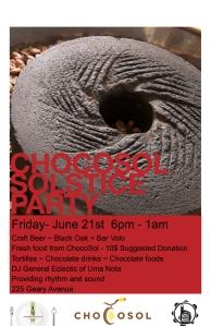 ChocoSol Summer Solstice 2013 Poster