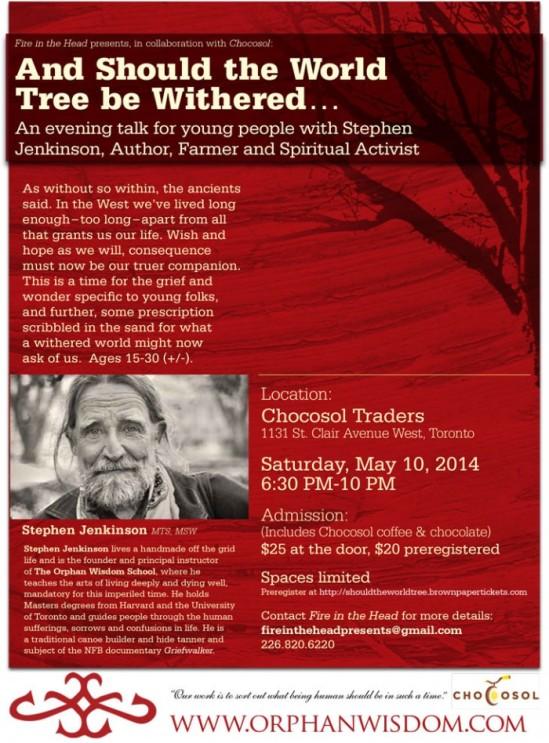 Stephen Jenkinson World Tree, May2014