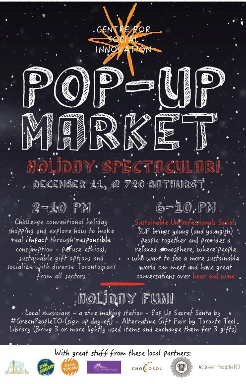 CSI Holiday Pop Up Market 2014