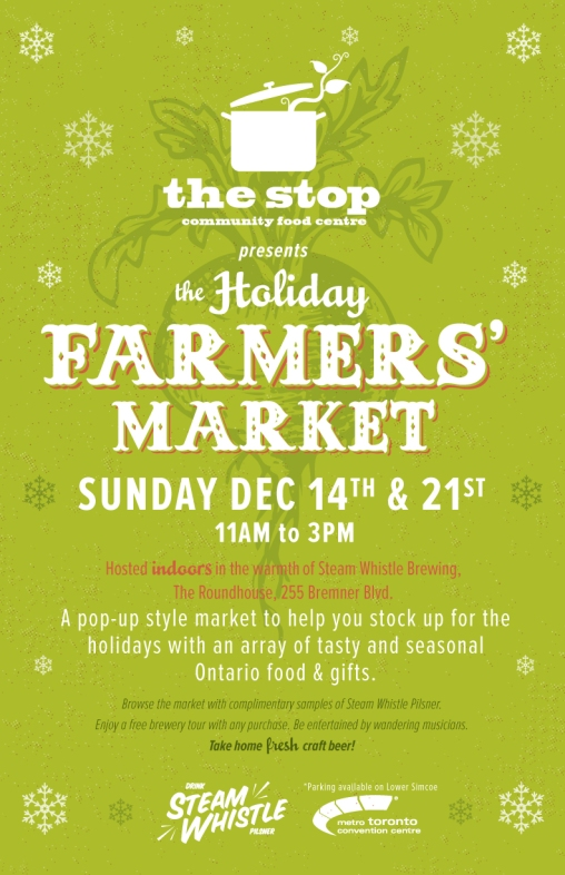 Steam Whistle Holiday Farmers Market Poster