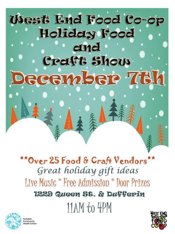 WEFC Holiday Food & Craft Show, Dec2014