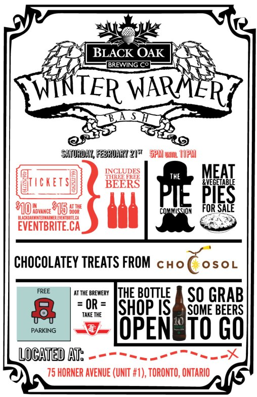 Black Oak Brewery Winter Warmer Poster Feb2015
