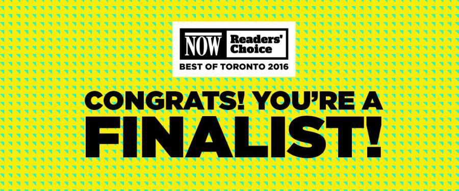 NOW Best of Toronto finalist 2016